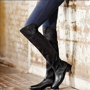 Tory Burch Simone Black Over the Knee Boot (size7)